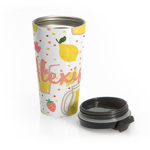 Strawberry Lemonade Personalized Travel Mug