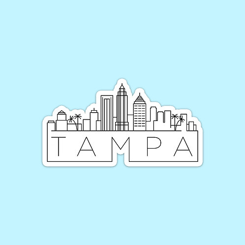 Tampa Skyline Sticker