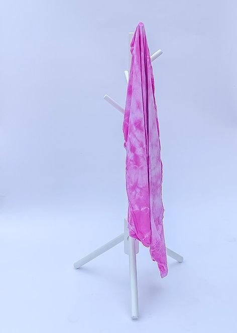Pink Crumple Tie Dye Swaddle Blanket