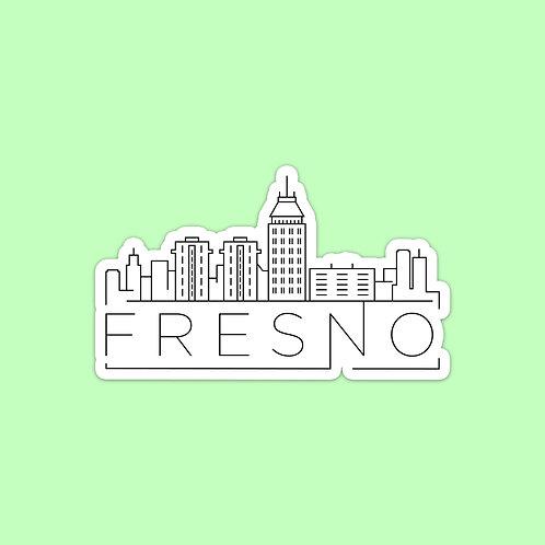Fresno Skyline Sticker
