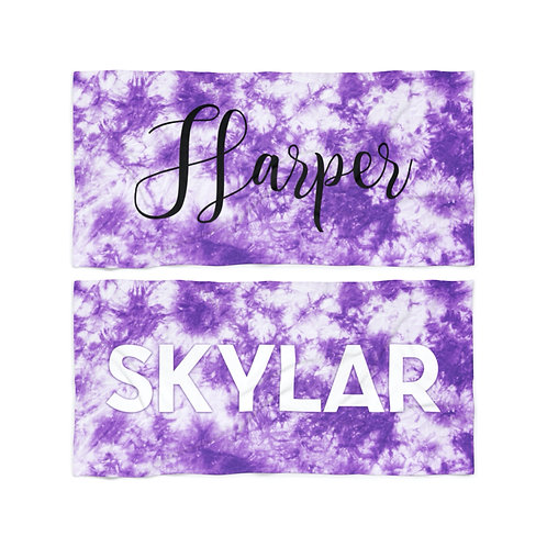 Wholesale Purple Tie Dye Personalized Towel