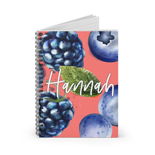 Berries Personalized Journal