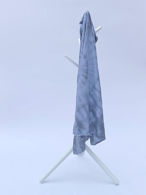 Graphite Swirl Tie Dye Swaddle Blanket