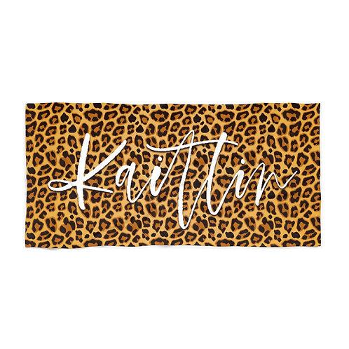 Leopard Print Personalized Towel