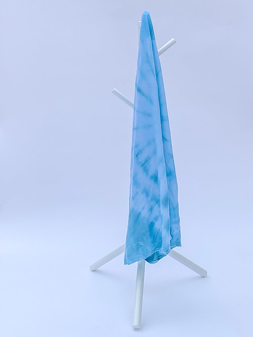 Bright Blue Swirl Tie Dye Swaddle Blanket