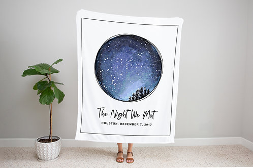 Night Sky Custom Star Map Blanket