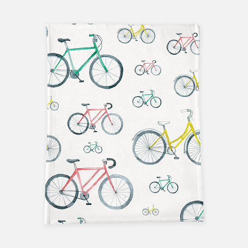 Watercolor Bikes Blanket