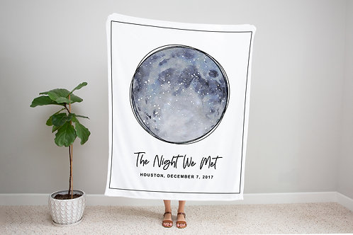 Harvest Moon Custom Star Map Blanket
