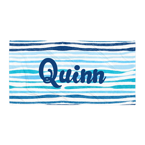 Waves Personalized Towel