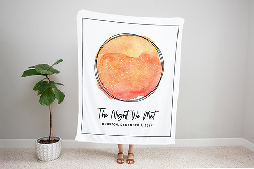 Tequila Sunrise Custom Star Map Blanket