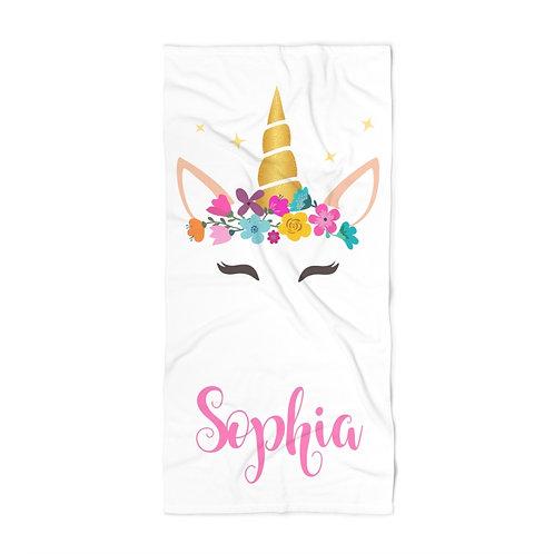 Unicorn Personalized Towel