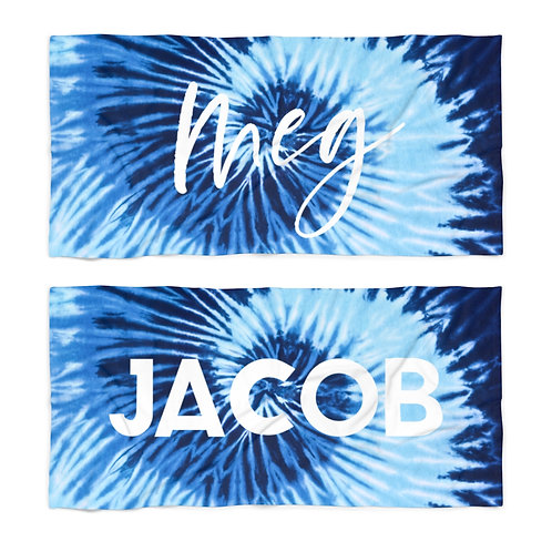 Waves Tie Dye Personalized Towel