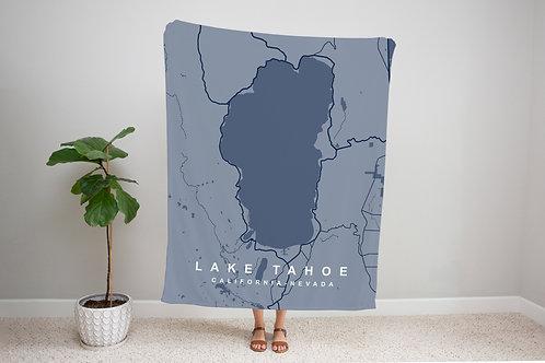 Blue on Blue Custom Map Blanket
