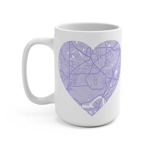 Purple Road Map Mug