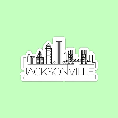 Jacksonville Skyline Sticker