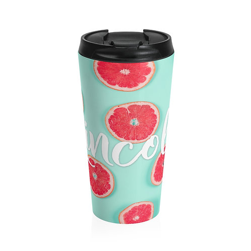 Grapefruit Personalized Travel Mug