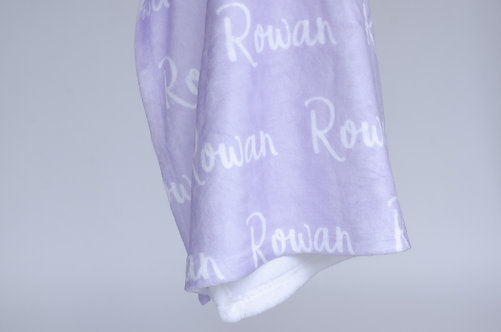 Lilac Personalized Name Blanket | Classic Collection