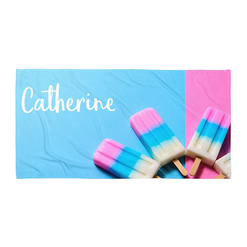 Popsicle Personalized Towel