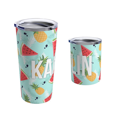 Watermelon Pineapple Personalized Tumbler