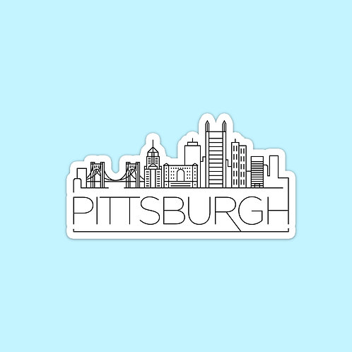 Pittsburgh Skyline Sticker