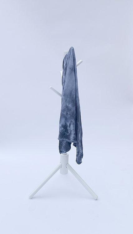 Graphite Crumple Tie Dye Swaddle Blanket