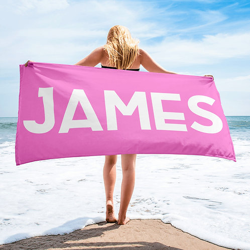 Wholesale Pink Personalized Towel