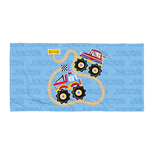 Monster Truck Personalized Towel