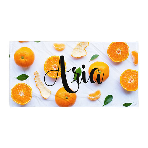 Orange Peel Personalized Towel