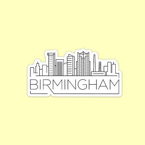 Birmingham Skyline Sticker