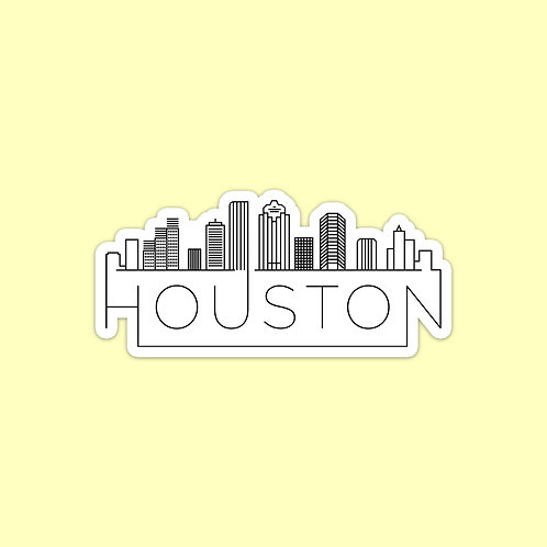 Houston Skyline Sticker