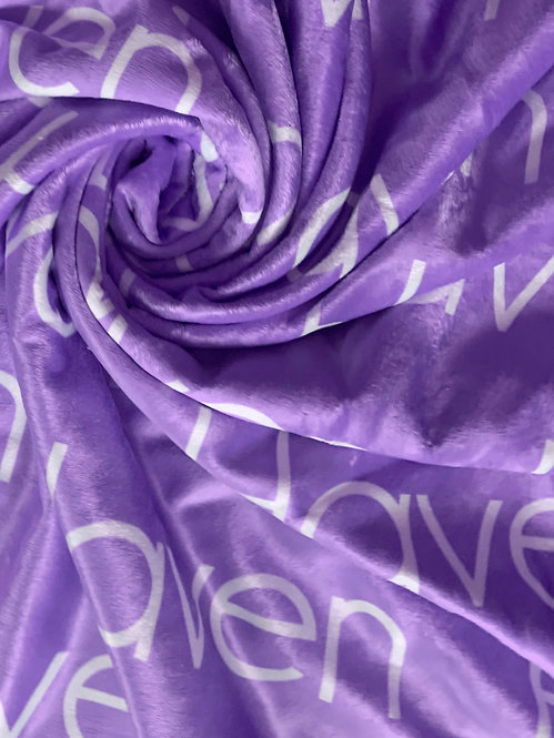 Purple Personalized Name Blanket | Bright Collection
