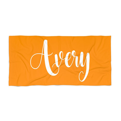 Tangerine Personalized Towel