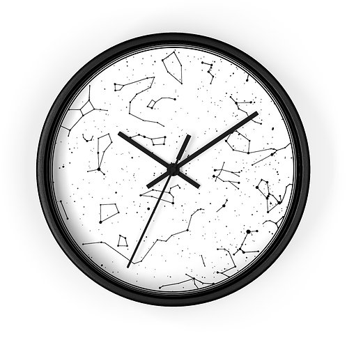 White Star Map Personalized Clock