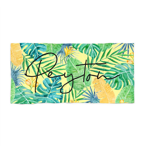 Tropical Personalized Towel
