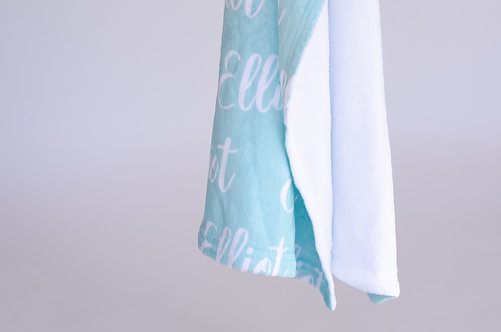 Spindrift Personalized Name Blanket | Classic Collection