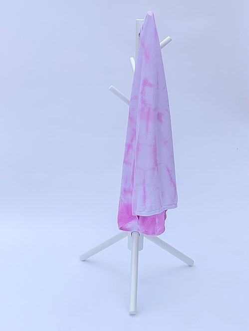 Pink Swirl Tie Dye Swaddle Blanket