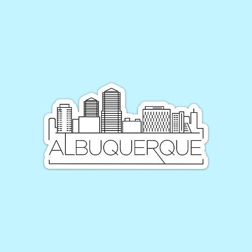Albuquerque Skyline Sticker