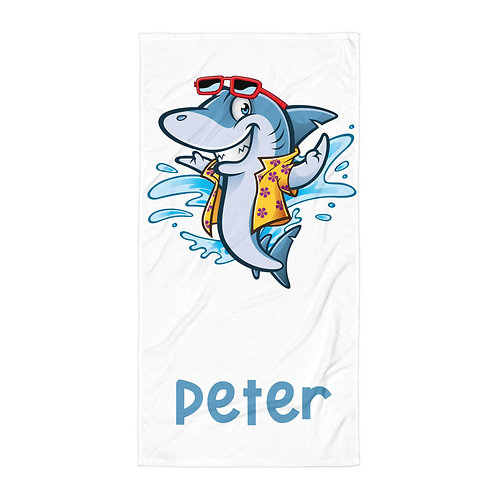 Happy Shark Personalized Towel