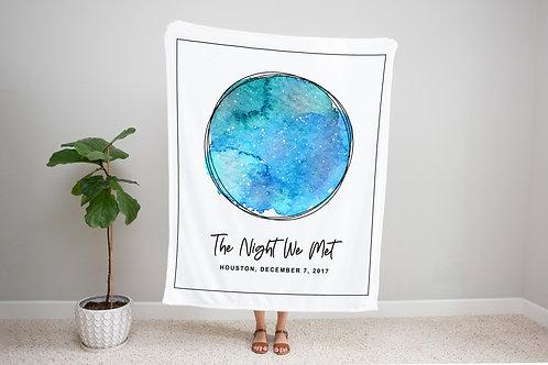 Tide Pool Custom Star Map Blanket