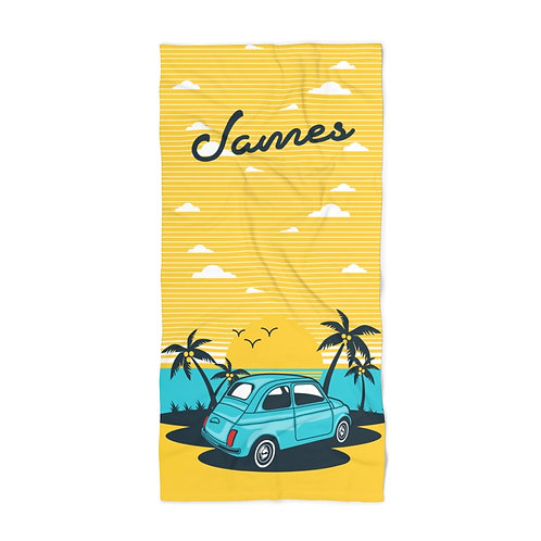 Retro Car Personalized Towel