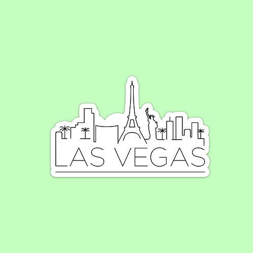 Las Vegas Skyline Sticker