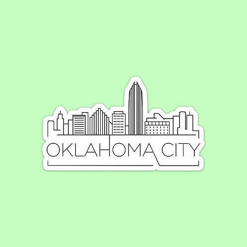 Oklahoma City Skyline Sticker