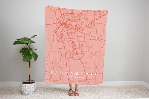 Pink on Pink Custom Map Blanket