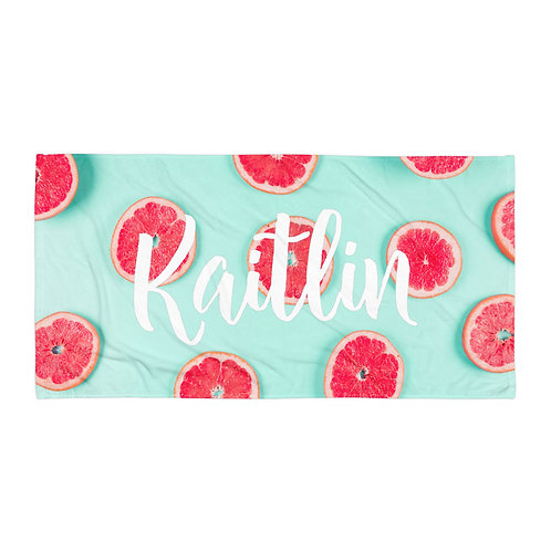 Grapefruit Personalized Towel