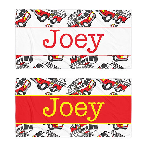 Firetruck Personalized Towel