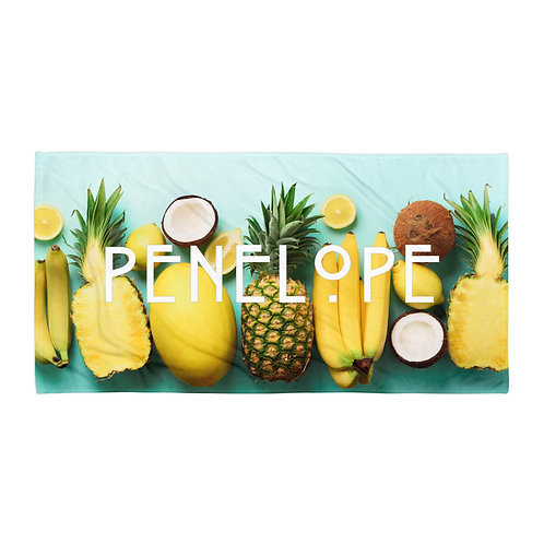 Island Fruits Personalized Towel