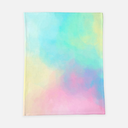 Pastel Tie Dye Blanket