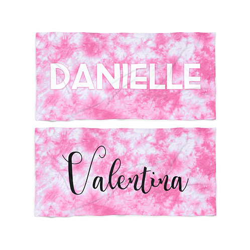 Wholesale Pink Tie Dye Personalized Towel