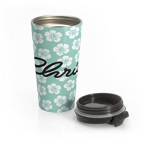Hawaiian Flowers Personalized Travel Mug
