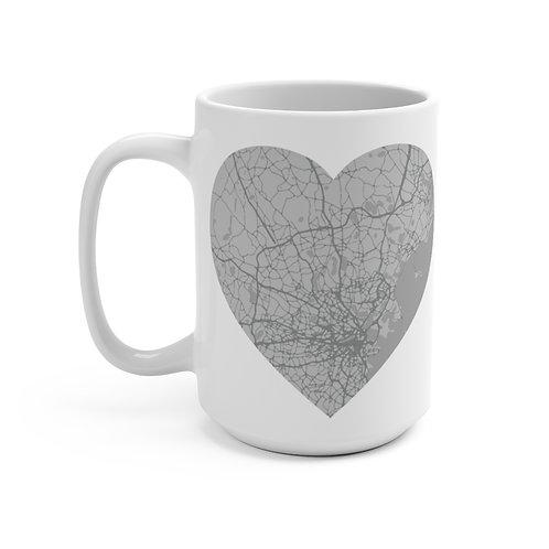 Grey Road Map Mug